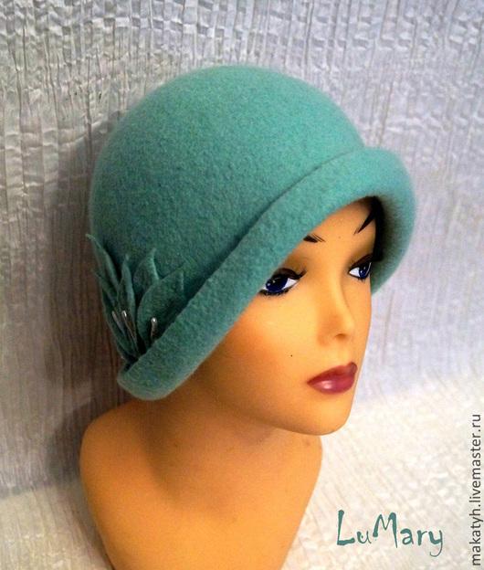 """Шляпы ручной работы. Ярмарка Мастеров - ручная работа. Купить Шляпка """"Melissa"""". Handmade. Мятный, шляпка с цветами, шерсть для валяния"""