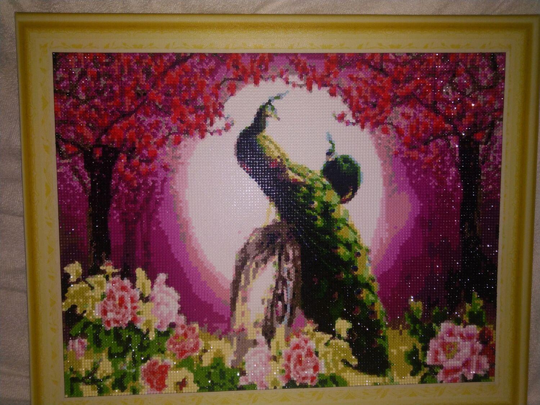 Алмазная мозаика : павлины, Картины, Пятигорск,  Фото №1