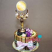 Цветы и флористика ручной работы. Ярмарка Мастеров - ручная работа Подарок женщине декану девушке ребёнкуторт из конфет шоколада. Handmade.