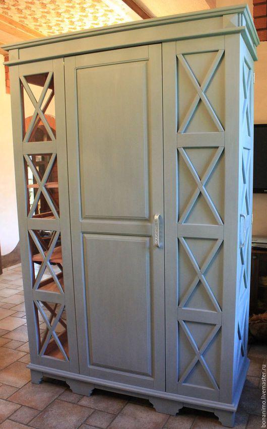 Мебель ручной работы. Ярмарка Мастеров - ручная работа. Купить Шкаф под холодильник. Handmade. Серый, шкаф кухонный