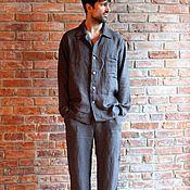 Мужская одежда handmade. Livemaster - original item Men`s pyjamas: autumn linen pyjamas