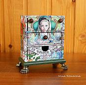 Для дома и интерьера handmade. Livemaster - original item Alice in Wonderland mini chest of drawers. Handmade.