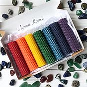 Фен-шуй и эзотерика handmade. Livemaster - original item Rainbow candles made of wax (chakras).. Handmade.