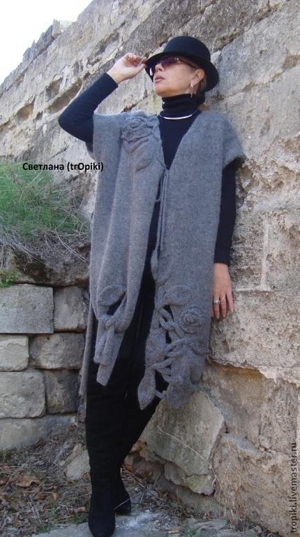 Кофты и свитера ручной работы. Пальто- кардиган  вязаное