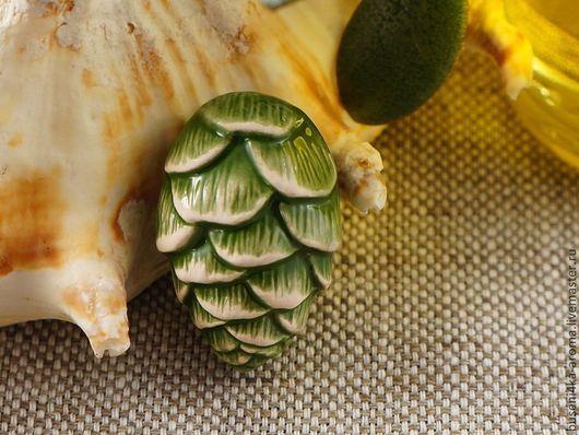 Для украшений ручной работы. Ярмарка Мастеров - ручная работа. Купить Аромакулон керамический №11 (зеленый). Handmade. Аромакулон, ароматерапия