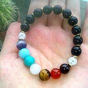 Bead bracelet handmade. Livemaster - original item Chabrowy bracelet to Harmonize the protection of individual selection of stones. Handmade.