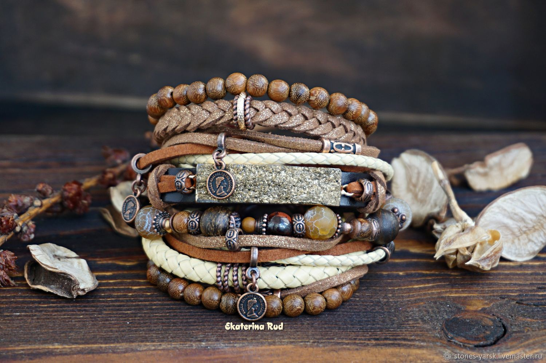 BOHO style bracelet with 'Chocolate-lemon' pendants', Bead bracelet, Moscow,  Фото №1