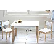 Столы ручной работы. Ярмарка Мастеров - ручная работа Детский комплект Izziwood -2 (стол+2 стула). Handmade.