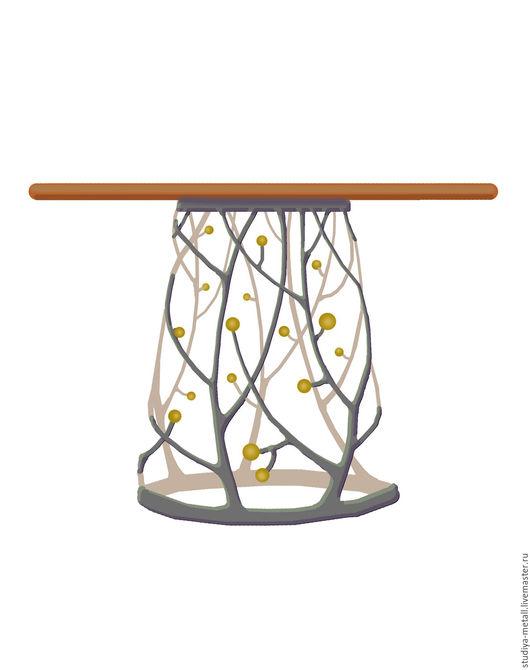 """Мебель ручной работы. Ярмарка Мастеров - ручная работа. Купить Стол кованый """"Дерево"""".. Handmade. Стол, кованые изделия, Мебель"""