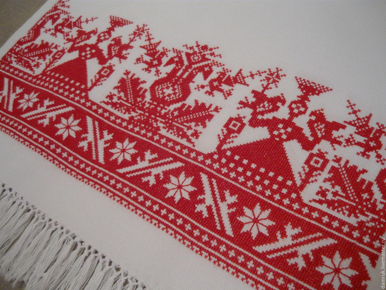 Ручная вышивка рушника