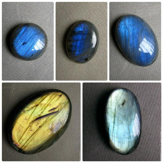 Лабрадор, лабрадорит, спектролит, кабошон для украшений.. Размеры и цены камней указаны под фото. №4,5 - Продан