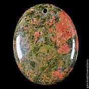 Материалы для творчества ручной работы. Ярмарка Мастеров - ручная работа Подвеска унакит натуральный камень овал 364. Handmade.