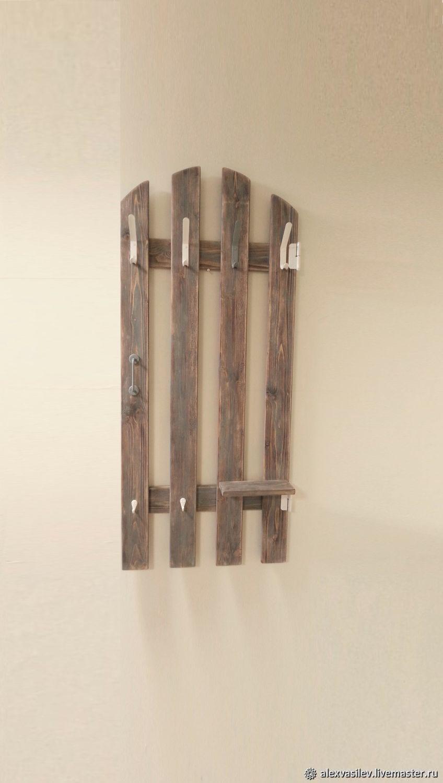 "Entrance Hall handmade. Livemaster - handmade. Buy Вешалка для одежды настенная ""Садовая дверь"".Gift, loft, scandinavian style, handle"