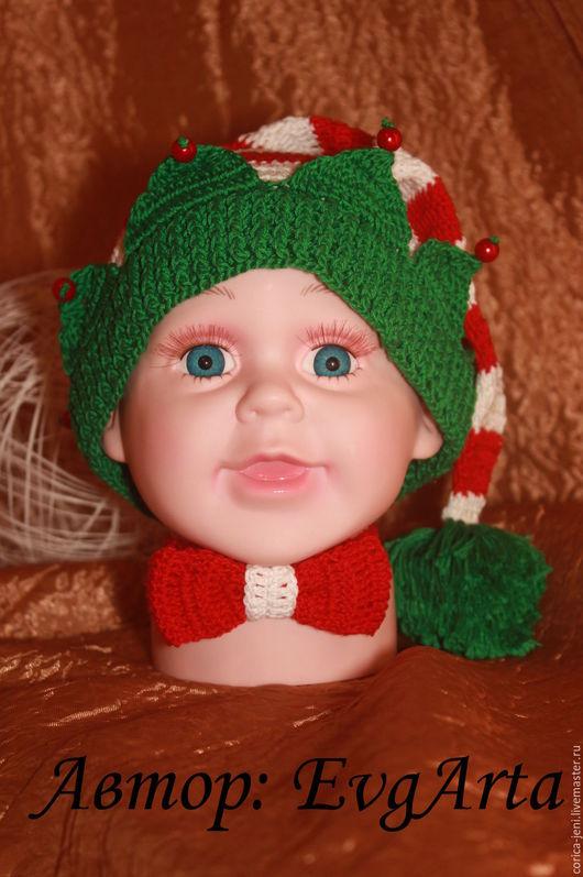 Для новорожденных, ручной работы. Ярмарка Мастеров - ручная работа. Купить В НАЛИЧИИ Новогодний комплект для малыша. Handmade.