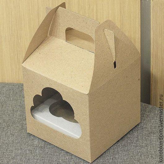 Упаковка ручной работы. Ярмарка Мастеров - ручная работа. Купить Коробочка 10х10х10 см с окошком крафт. Handmade. Коробочка