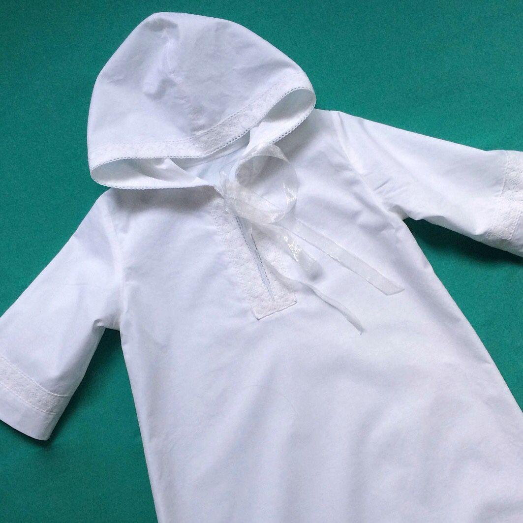 Крестильная рубашка с капюшоном для мальчика своими руками выкройка