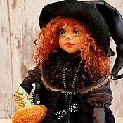 Куклы и игрушки ручной работы. Ярмарка Мастеров - ручная работа Ведьмочка с тыквой.. Handmade.