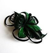 Украшения handmade. Livemaster - original item Brooch of leather flower