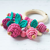 Одежда handmade. Livemaster - original item Copy of Copy of Personalized teether-ring - the first toy berry. Handmade.