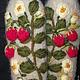 Варежки с вышивкой   Ягодка-Малинка. Варежки. Ludmila Batulina (milenaleoneart). Ярмарка Мастеров.  Фото №4
