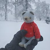 Мишки Тедди ручной работы. Ярмарка Мастеров - ручная работа Мишки Тедди: Зимний Тедди. Handmade.