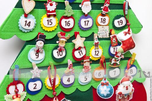 фото адвент-календарь, календарь ожидания праздника, набор для творчества. Горбушкины товары.