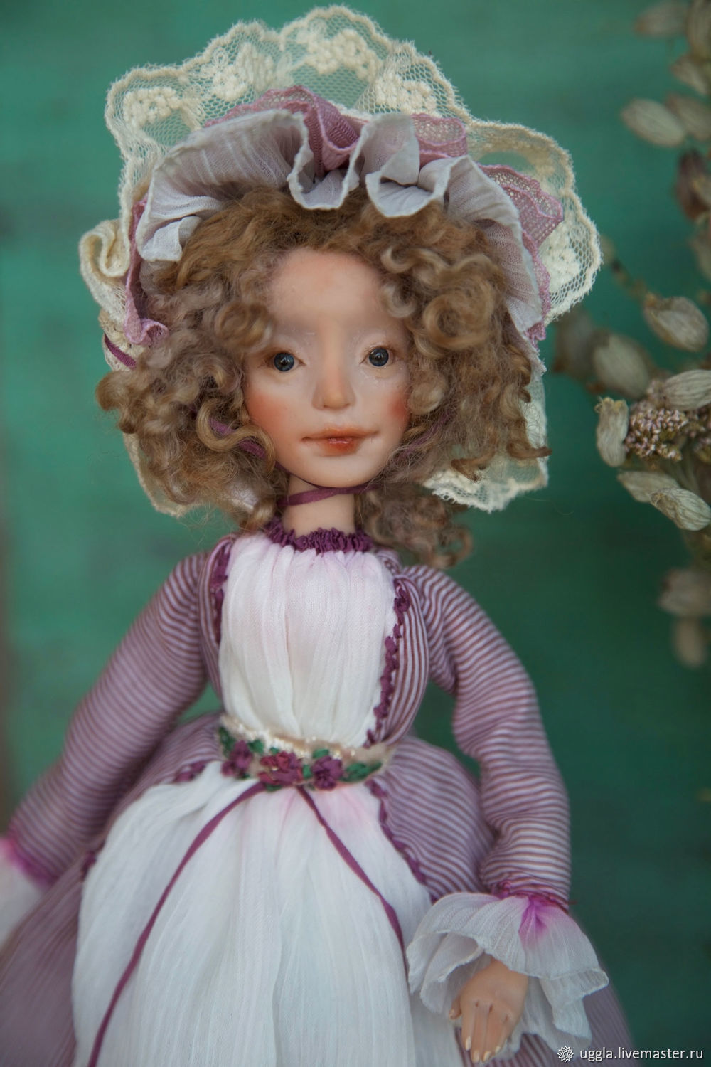 collectible art doll OOAK Art Doll interior doll totally hand made
