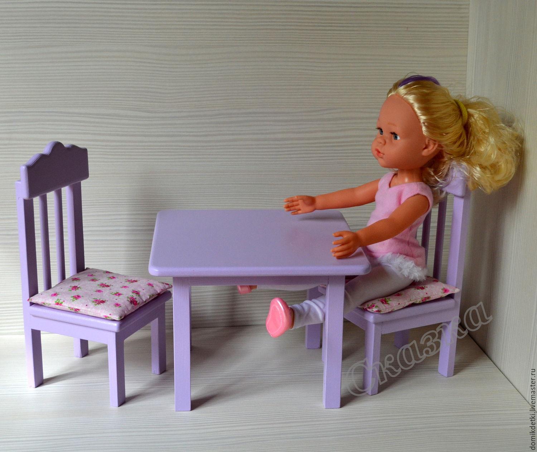 Купить Мебель для больших кукол - кукольная мебель, мебель для кукол, стульчик для куклы, столик, для кукол