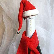 Сувениры и подарки ручной работы. Ярмарка Мастеров - ручная работа Шапочка и шарфик  для шампанского. Handmade.