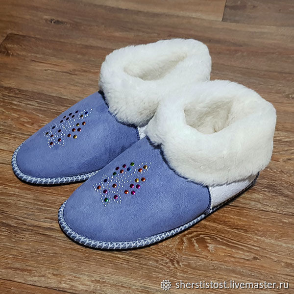b456c33ac0b3d Slippers made of natural sheep fur and wool – shop online on ...