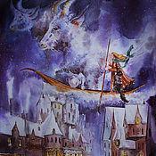 Картины и панно handmade. Livemaster - original item Pictures: Winter painting Inspiration of winter. Handmade.