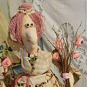 Для дома и интерьера ручной работы. Ярмарка Мастеров - ручная работа Розовый букет. Старенькая фея. Баба Яга на чайник.. Handmade.