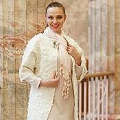 Одежда ручной работы. Ярмарка Мастеров - ручная работа Пальто Белое с флисом. Handmade.