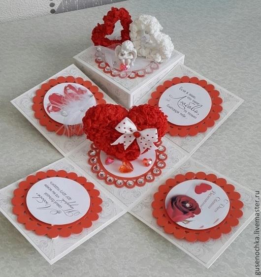 Подарки для влюбленных ручной работы. Ярмарка Мастеров - ручная работа. Купить Коробочка с сюрпризом ко дню всех влюбленных. Handmade.