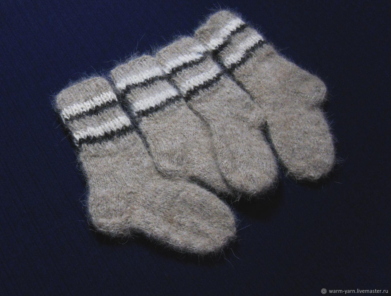 Children's knitted set of socks, Socks, Klin,  Фото №1