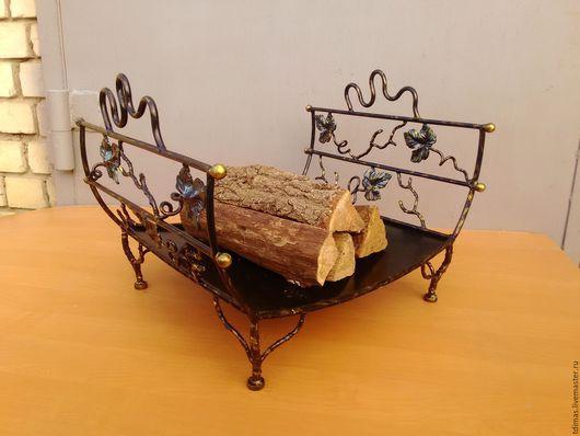 Подставки под цветы ручной работы. Ярмарка Мастеров - ручная работа. Купить Дровница. Handmade. Цветы, каминные принадлежности, сталь