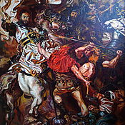 "Картины и панно handmade. Livemaster - original item J. Mateiko`s ""Battle of Grunwald"". Copy by V. Zherdev. Handmade."