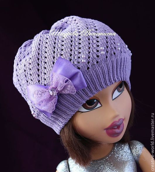 Шапки и шарфы ручной работы. Ярмарка Мастеров - ручная работа. Купить детская шапочка для девочки лето весна. Handmade.