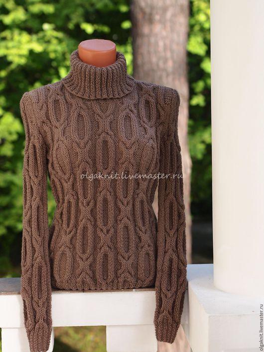 Кофты и свитера ручной работы. Ярмарка Мастеров - ручная работа. Купить Свитер шоколадный. Handmade. Коричневый, свитер вязаный