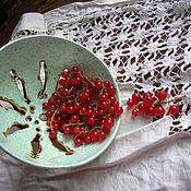 Посуда ручной работы. Ярмарка Мастеров - ручная работа Berry Bowl Первые листочки. Handmade.