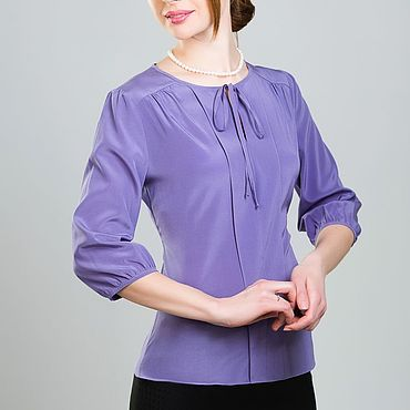 "Одежда ручной работы. Ярмарка Мастеров - ручная работа Шелковая блузка ""Аметист"". Handmade."