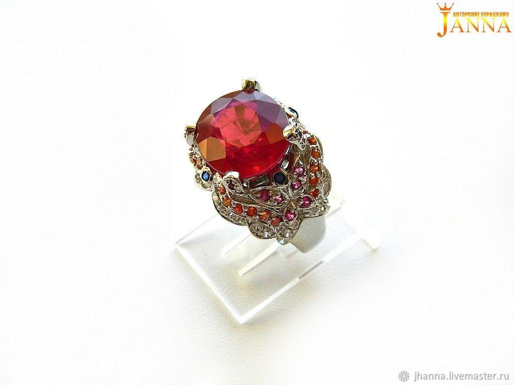 Rubin. ' summer ' ring with ruby, Rings, Volgograd,  Фото №1