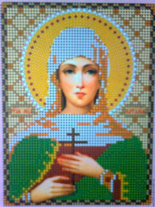 """Иконы ручной работы. Ярмарка Мастеров - ручная работа. Купить Икона """"Святая Наталия""""на заказ. Handmade. Комбинированный, икона в подарок"""