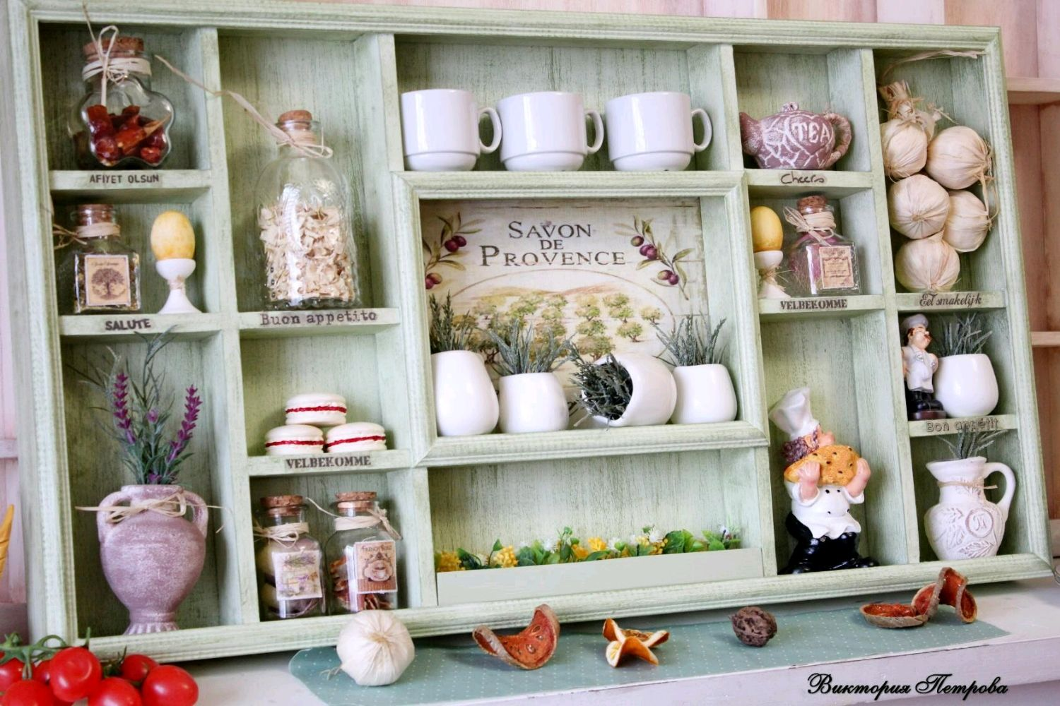 green Provence shelf on the wall, Shelves, Barnaul,  Фото №1