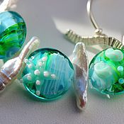Украшения handmade. Livemaster - original item Necklace Tropical lagoon. Handmade.