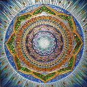 Картины и панно handmade. Livemaster - original item Pictures: Individual Amber Mandala Of The Soul. Handmade.