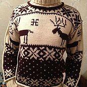 Одежда ручной работы. Ярмарка Мастеров - ручная работа Классический свитер с норвежскими узорами. Handmade.