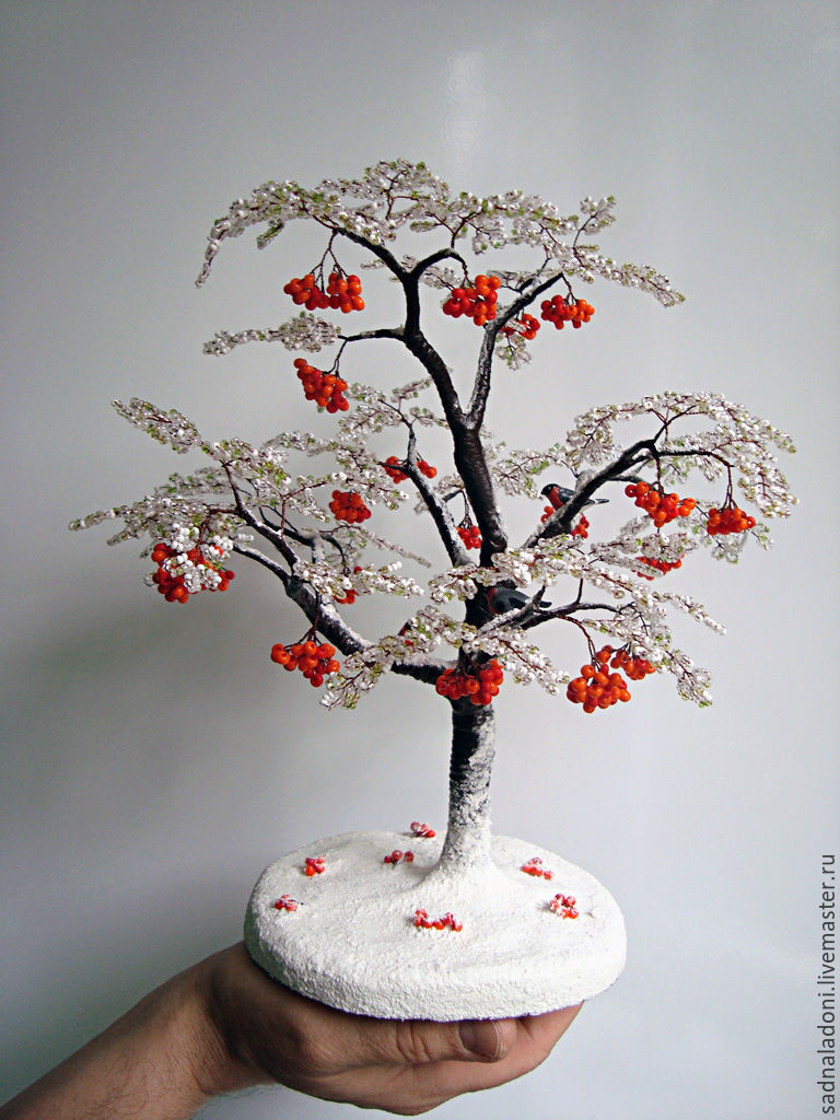 Что сделать дерево из бисера своими руками