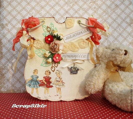 """Фотоальбомы ручной работы. Ярмарка Мастеров - ручная работа. Купить Фотоальбом """"Маленькая принцесса"""". Handmade. Фотоальбом, картон, лента атласная"""