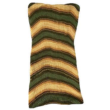 Аксессуары ручной работы. Ярмарка Мастеров - ручная работа Шарф-снуд зелено-коричневый. Handmade.